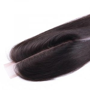 Lace closure lisse malaisien 2*6