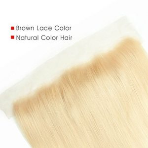 Lace frontal straight blond