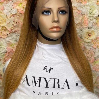 Samantha – Perruque Lace Frontal Blond Ombré Caramel
