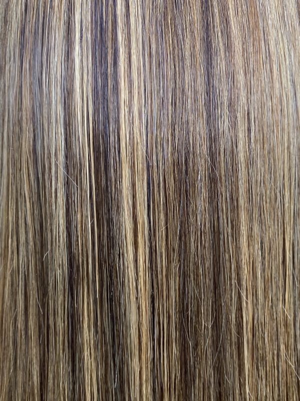 kamélia perruque lace frontal lisse caramel highlight